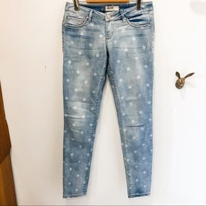 Garage skinny jeans with polka dots